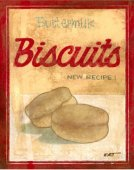 Vintage, Buttermilk Biscuits New Recipe Sign, metal, tin